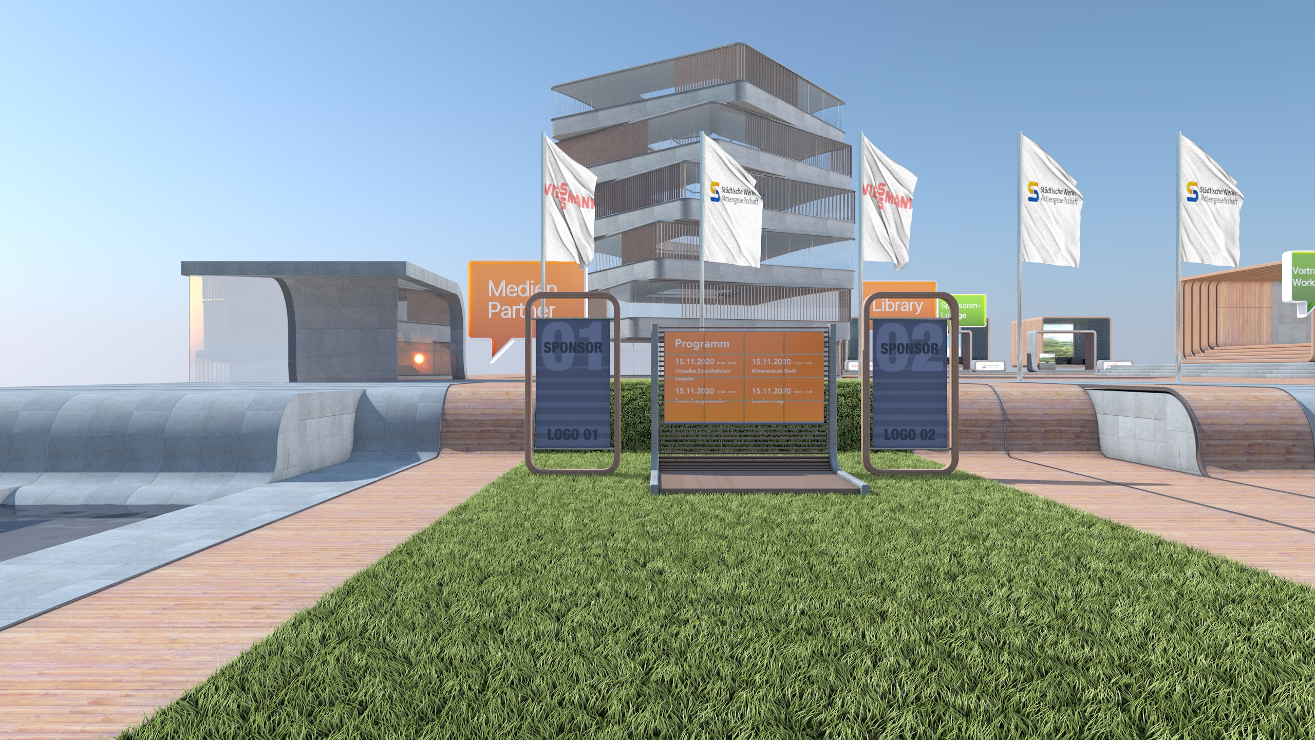 So könnte es aussehen: Entwürfe des virtuellen Zukunfsforums
