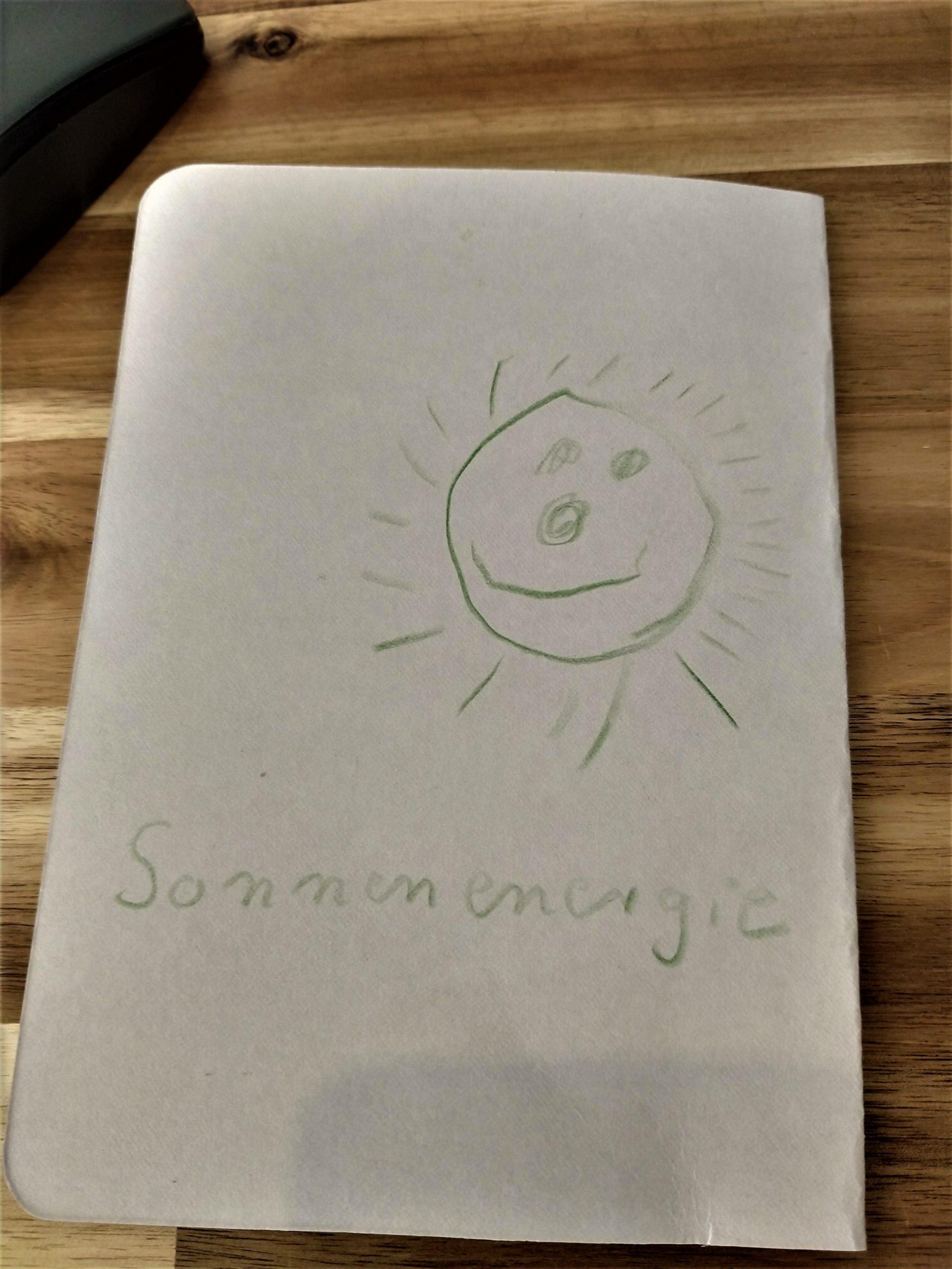Die Tochter von Thomas Simons hat ein Buch über Sonnenenergie gemalt