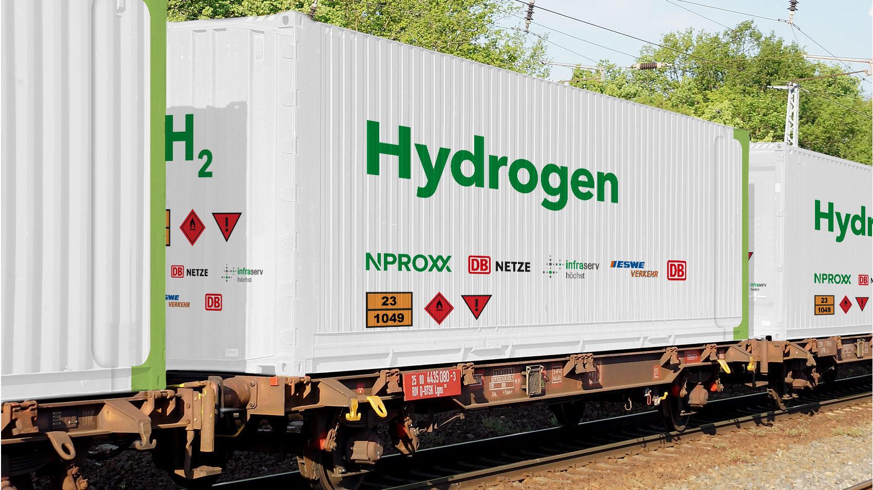 Transport von Wasserstoff per Schiene