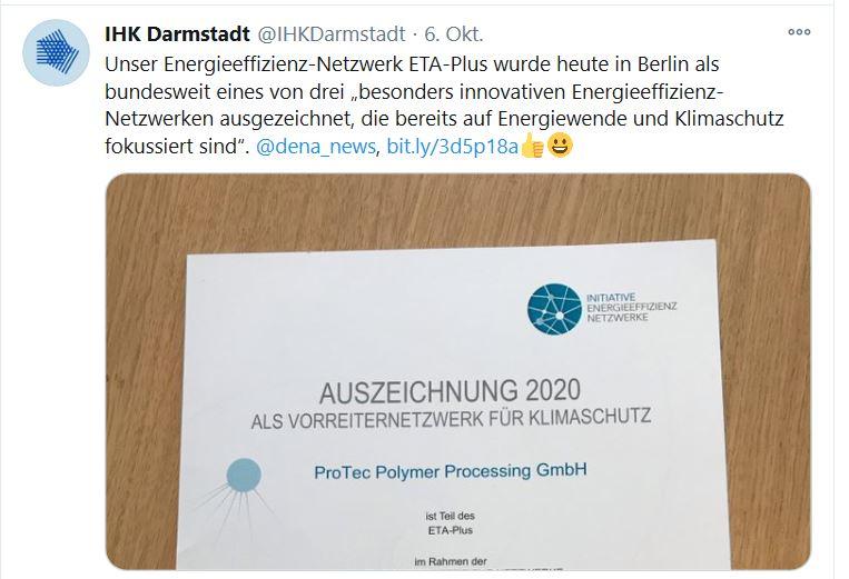 Tweet der IHK Darmstadt