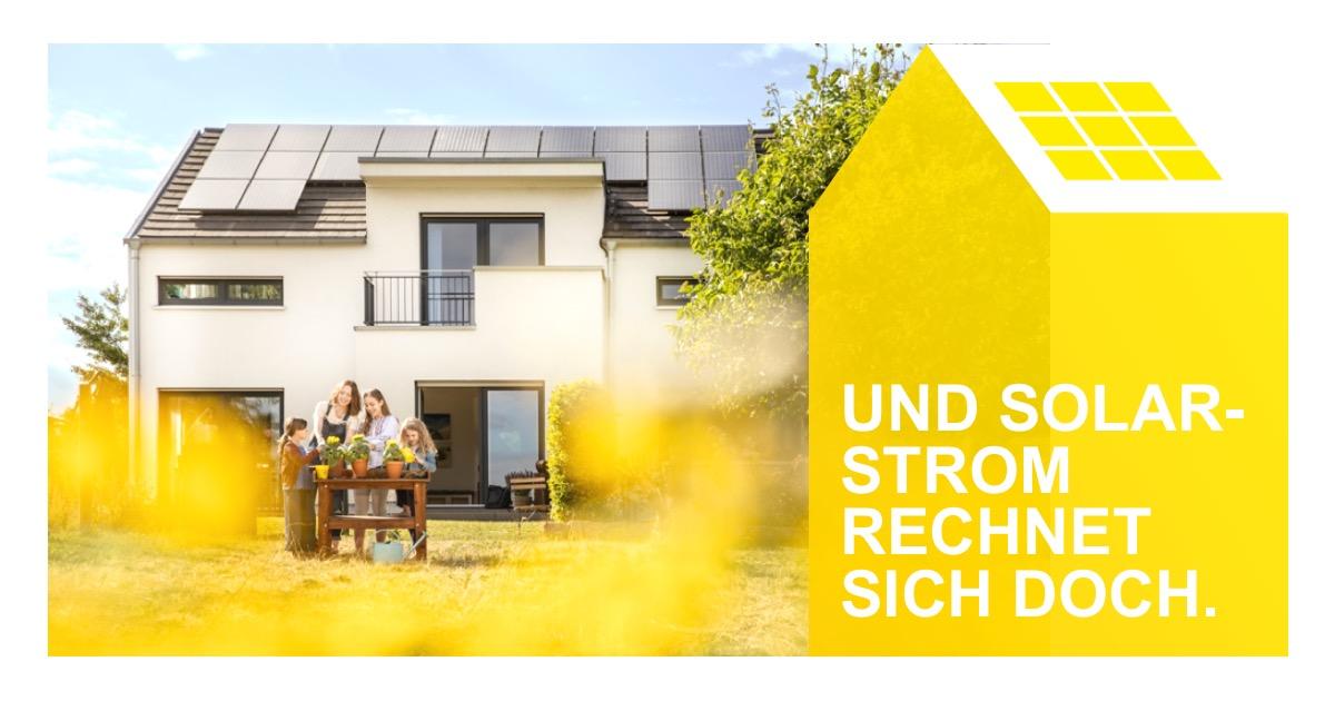 """Solarkampagne: """"Und Solarstrom rechnet sich doch"""""""