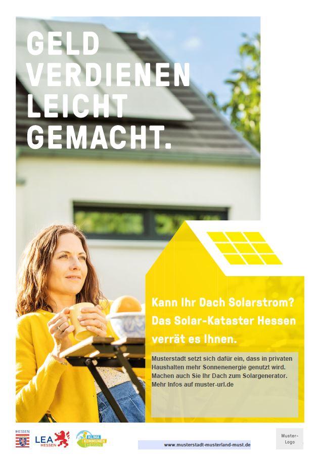 Plakat der Solarkampagne